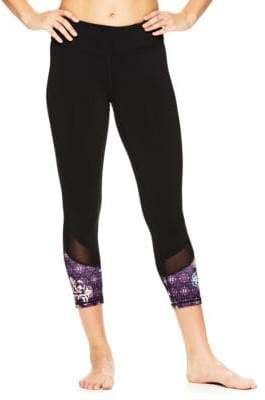 Gaiam OM Mesh Capri Leggings