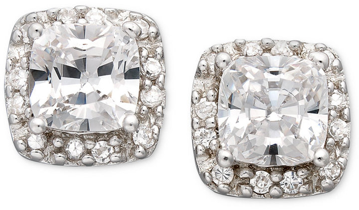 Giani Bernini Sterling Silver Earrings, Cubic Zirconia Pave Stud Earrings (1-3/4 ct. t.w.)