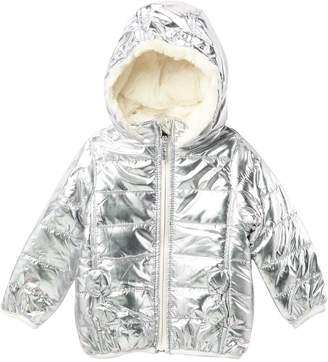 Steve Madden Faux Fur Detail Puffer Jacket (Baby Girls)