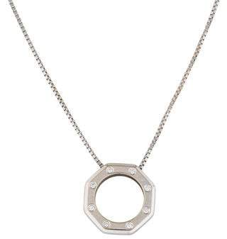 Audemars Piguet 18K Diamond Octagon Pendant Necklace
