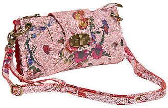 Joe Browns Womens Leather Handbag with Floral Print Pink