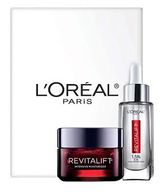 L'Oreal Skin Care Revitalift Hyaluronic Acid Facial Serum and Triple Power Face Moisturizer Anti-Aging Skin Care Set
