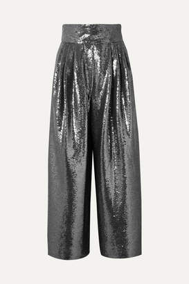 Marc Jacobs Sequined Tulle Wide-leg Pants - Silver