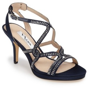 Women's Nina Varsha Crystal Embellished Evening Sandal $98.95 thestylecure.com