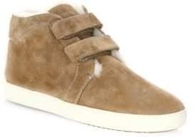 Rag & Bone Kent Suede and Shearling Desert Sneakers
