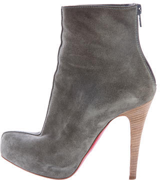 Christian Louboutin  Christian Louboutin Suede Semi Pointed Booties