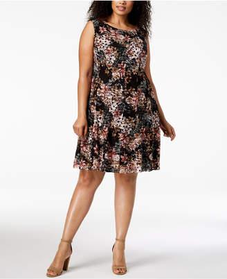Connected Plus Size Lace A-Line Dress