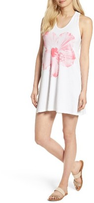 Women's Sundry Hibiscus Racerback Cotton Dress $98 thestylecure.com