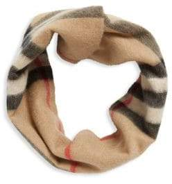 Burberry Patterned Infinity Cashmere Scarf
