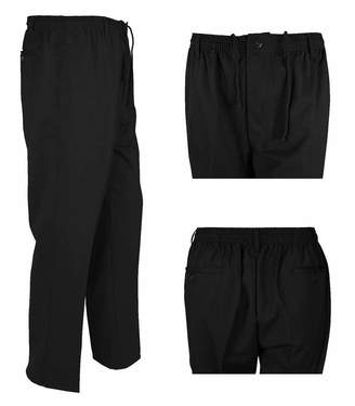 REAL LIFE FASHION LTD Gent Rugby Full Length Office Pants Trouser Men Elasticated Plain Casual Trouser#( Office Business Trouser#Waist 36/29 Length#Mens)