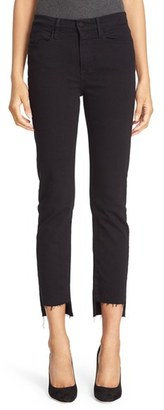 Women's Frame Le High Straight High Waist Staggered Hem Jeans $205 thestylecure.com