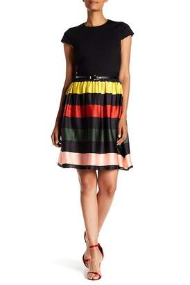 Ted Baker Aneli Striped Belted Dress