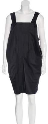 Saint Laurent Sleeveless Pleated Dress