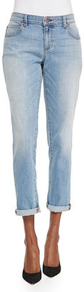 Eileen Fisher Stretch Boyfriend Jeans, Faded Blue, Petite $178 thestylecure.com