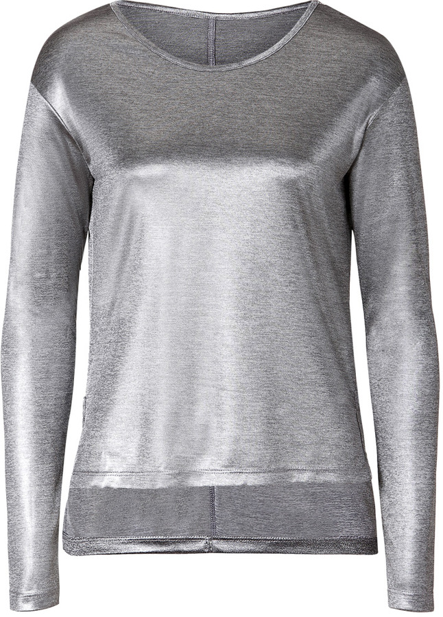 J Brand Grey Metallic Dani T-Shirt