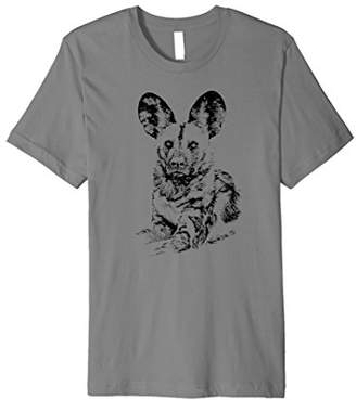 African Painted Dog Making Eye Contact T-shirt for Dog Fans