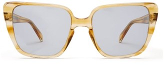 Celine Square Cat Eye Acetate Sunglasses - Womens - Yellow Multi