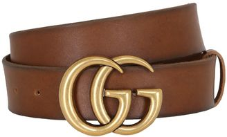 40mm Gg Buckle Leather Belt $420 thestylecure.com