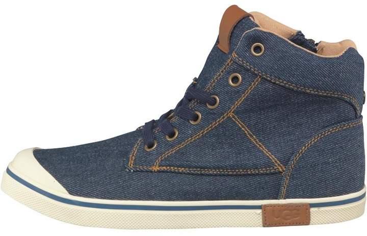 Boys Damian Hi-Top Sneakers Denim