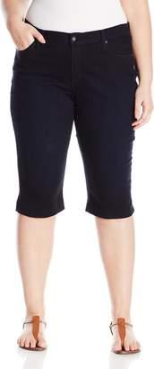 James Jeans Women's Plus-Size Sophia Knee Crop Slimming Short