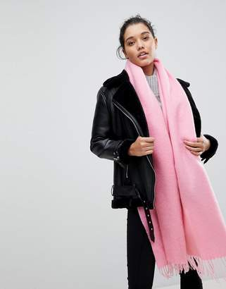 Asos Supersoft Long Woven Scarf With Tassels