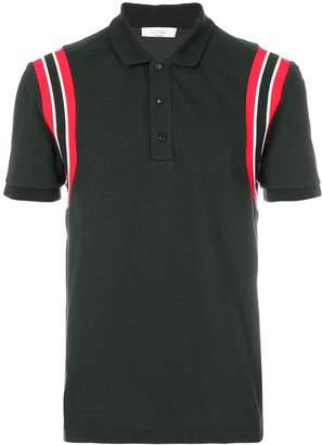 Valentino stripe shoulder polo shirt