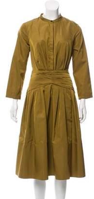 Burberry Silk-Blend Midi Dress