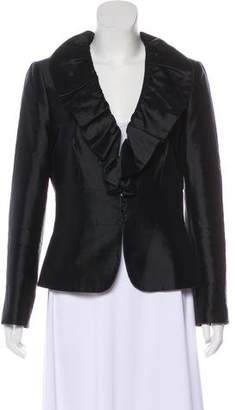 Tahari Wool Ruffled Jacket