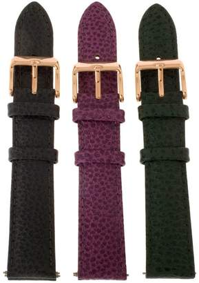 Bronze 8mm Set of 3 Leather Watch Straps byBronzo Italia