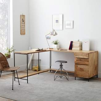 west elm Industrial Modular Desk Set