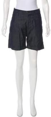 Frame Chambray Mini Shorts
