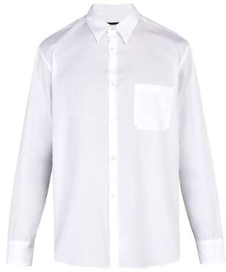 Raf Simons Side Slit Cotton Shirt - Mens - White
