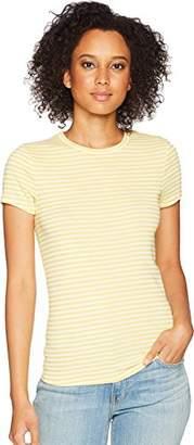 Three Dots Women's Desert Stripe Kennedy Short Sleeve Tight Top