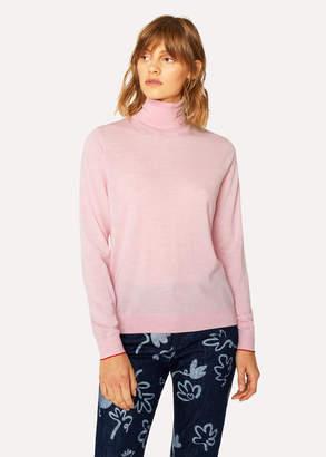 Paul Smith Women's Light Pink Wool Roll-Neck Sweater