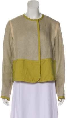 MM6 MAISON MARGIELA Linen Long Sleeve Short Jacket