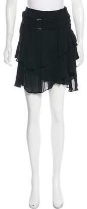IRO Ruffle-Accented Mini Skirt