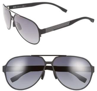BOSS 63mm Aviator Sunglasses