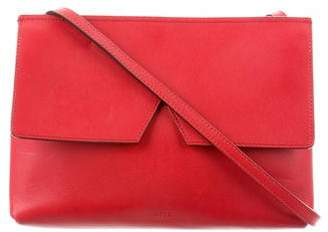 Vince Leather Signature V Crossbody Bag