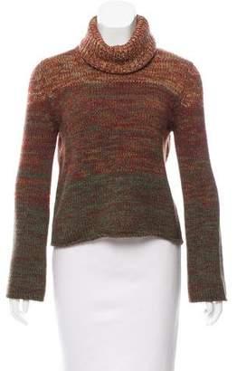 Oscar de la Renta Mélange Turtleneck Sweater