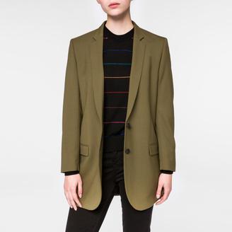 Women's Olive Green Merino Wool Blazer $675 thestylecure.com