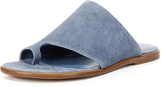 Vince Edris Flat Suede Slide Sandal