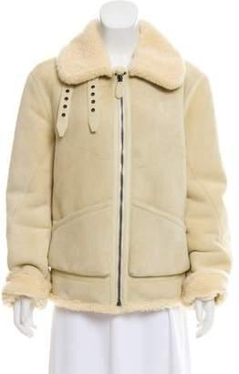 Ralph Lauren Belted Shearling Jacket