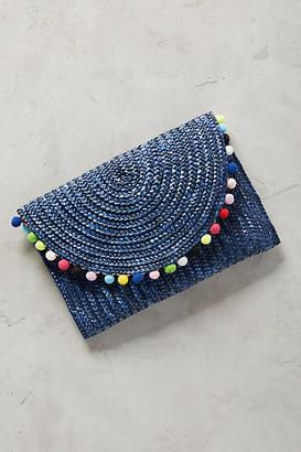 Shiraleah Rio Pom Pom Clutch $48 thestylecure.com
