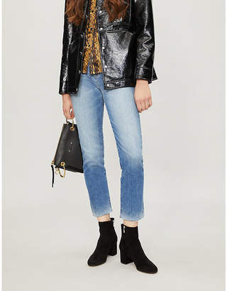 Hudson Zoeey high-rise straight-leg cropped jeans