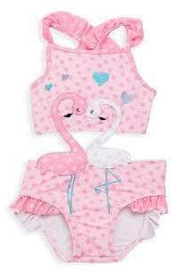 Flamingos Baby Girl's One-Piece In Love Swimsuit