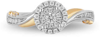 FINE JEWELRY Enchanted Disney Fine Jewelry Womens 1/3 CT. T.W. Genuine White Diamond 10K White Gold Engagement Ring