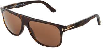 Tom Ford Idigo Square Havana Acetate Sunglasses