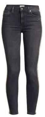Alice + Olivia Jeans Good Mid-Rise Skinny Crystal Jeans