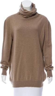 Loro Piana Suede-Paneled Cashmere Sweater
