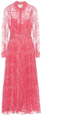 Burberry Pleated lace midi dress